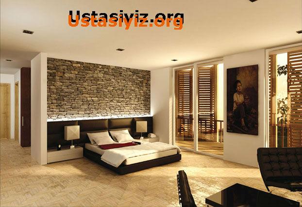 Farklı metotlar yugulanmış yatak odası dekorasyon